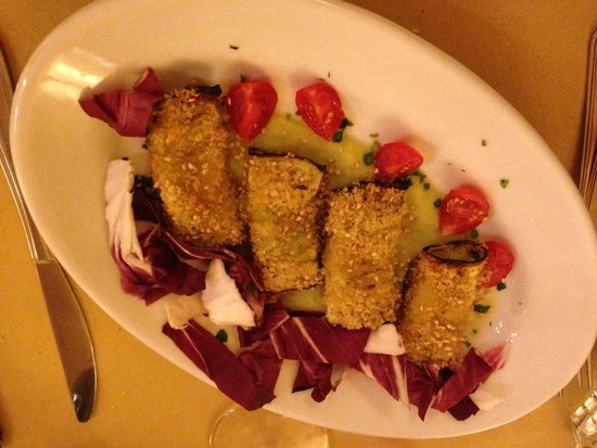 Osteria Numero Uno: Amazing grilled eggplants with parmesan