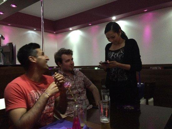 Asiana restaurant: Lovely waitress.