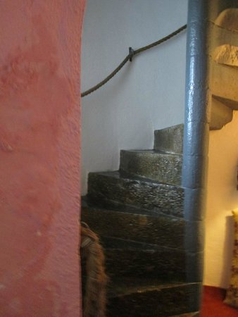 Carrigeen Castle: The staircase leading upstairs