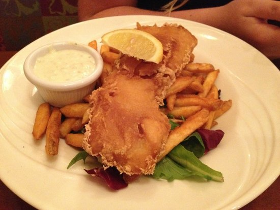 Lulu's Oceanside Grill: Fish and chips - $16 - with  seasoned fries