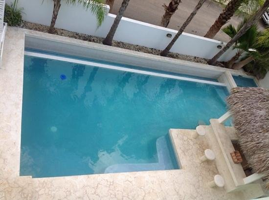 Casa Verde Hotel: the pool - from the 2nd floor balcony