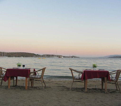 Ozukara Apartments: Dinner on the beach