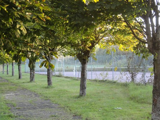 Manoir La Betoulle : Trees and tennis
