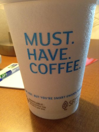 Holiday Inn Express & Suites Ann Arbor: Coffee cup!