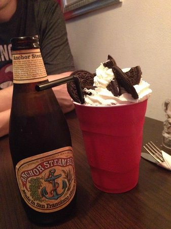 Geneve Eatery: Oreo milkshake and American beer perfect to go with burgers
