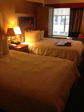 Hampton Inn Manhattan - Madison Square Garden Area : 2 double beds, clean, NO BUGS