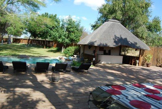 nDzuti Safari Camp : Veranda and Pool of nDzuti