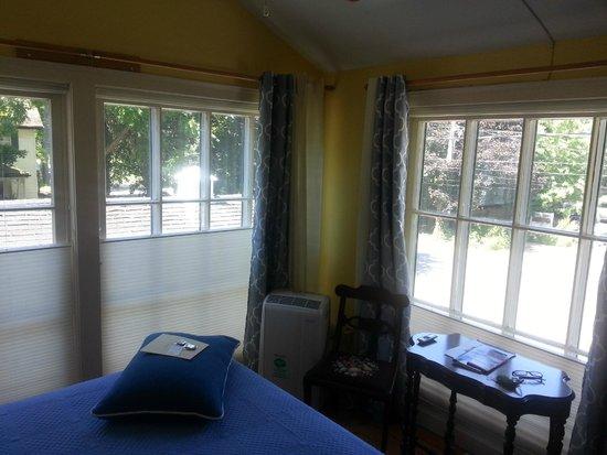 La Toscana di Carlotta: Medici Room - big bright windows but extra air conditioner keeps room pleasantly cool