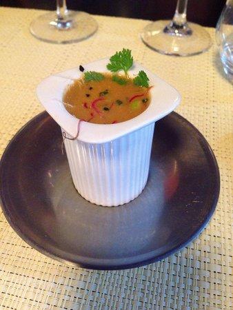Resto Bistro Oliver : Amuse bouche bisque de homard