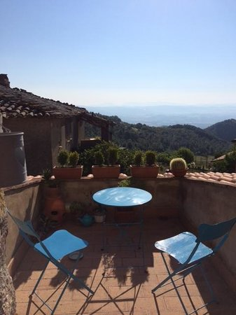 Torre Valbiancara Country House : View from the room terrace
