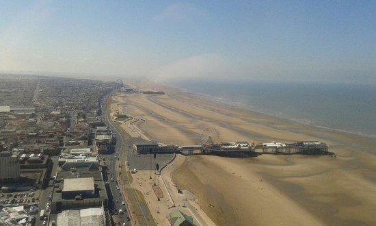 Tour et Cirque de Blackpool (Blackpool Tower and Circus) : Top of the tower!