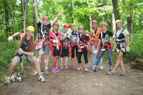 Hocking Hills Canopy Tours : Our intrepid crew!