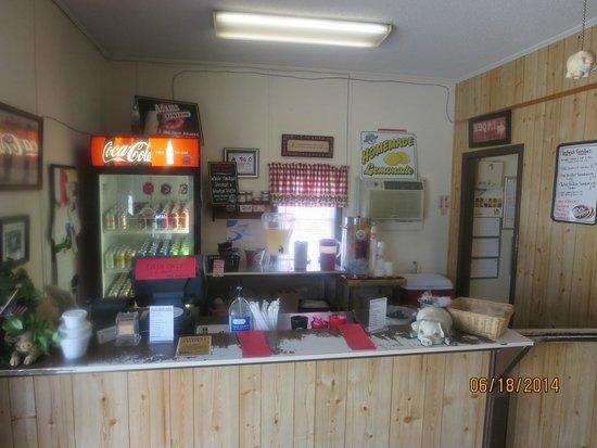 Adams Roadside BBQ: Small Interior Counter Area