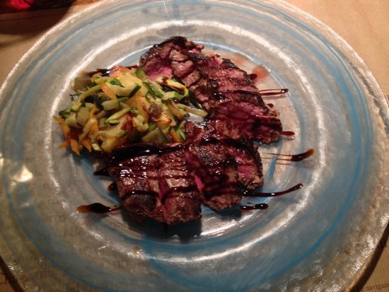 Le Cantine Squarciafico: Great steak with balsamico