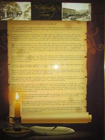 Nobody's Inn: History of the inn