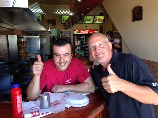 Lucky's Souvlakis: Thumbs up for Mike!
