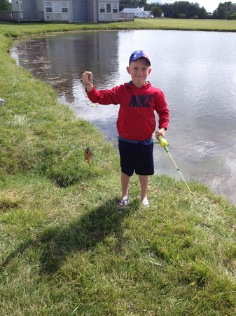 Erie Islands Resort Marina : Grandson #1 caught his first fish!