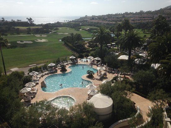 Monarch Beach Resort: View of pool/golf areas.