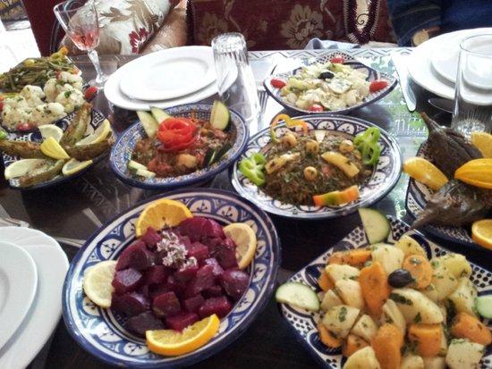 Riad Maryam Restaurant: Légumes variés en entrée