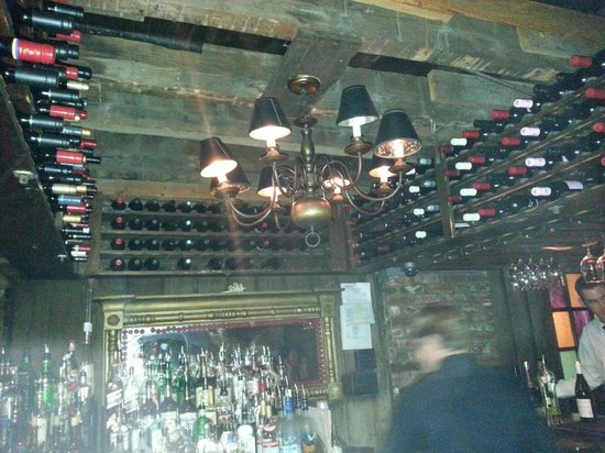 The Olde Pink House : The downstairs Tavern bar.  Very cool.