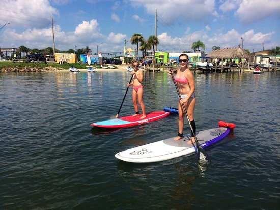 Sobe Surf Paddlers In Front Or Our Merritt Island Waterfront