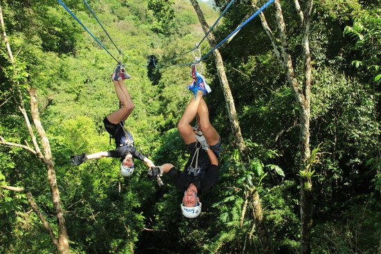 Outdoor Adventure by Vallarta Adventures: upside down and backwards