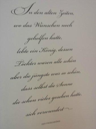 Grimm's Hotel: testo della fiaba in tedesco