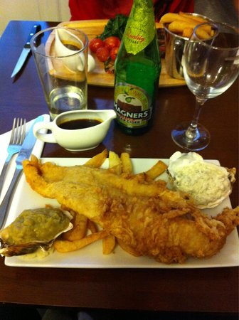 The Inn at Ravenglass: Haddock & Chips. Great value!