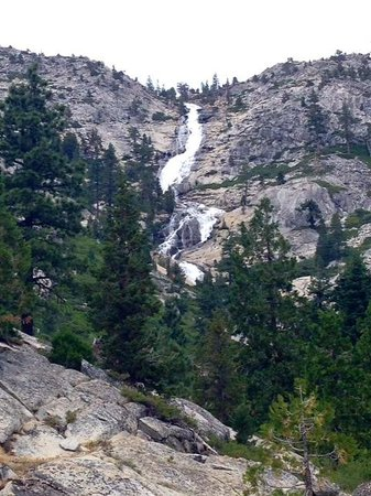 Horsetail Falls : Picture of the falls about 1/2 mile into the hike