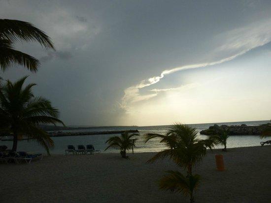 Grand Bahia Principe Jamaica: Gorgeous storm rolling in