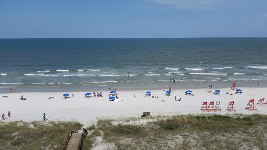 Four Points by Sheraton Jacksonville Beachfront: Actual Beach view from the 6th Floor balcony