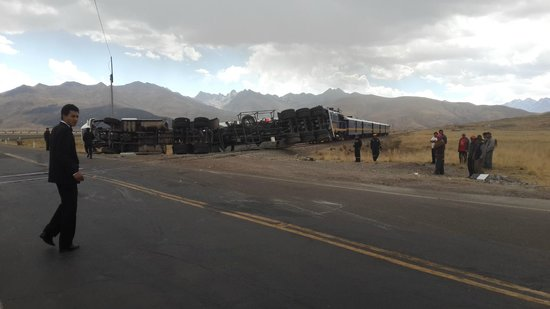 PeruRail Andean Explorer: Accidente