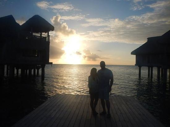 Conrad Bora Bora Nui : This place has the most beautiful sunsets!!!