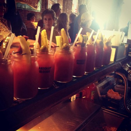Traveler's Tales: Made 35 bloody marys today boom!