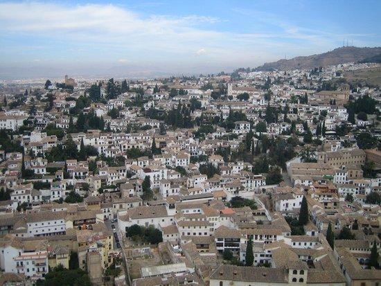 Mirador de San Nicolas: Mirador de San Nicolás desde La Alhambra - Enero 2012