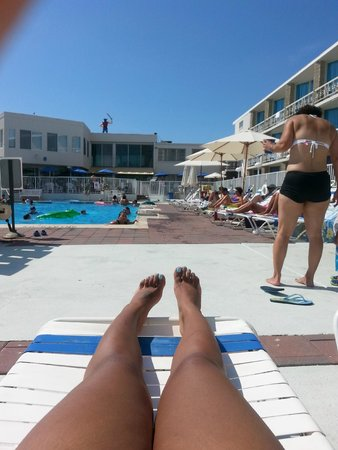 Jolly Roger Motel: Pool view