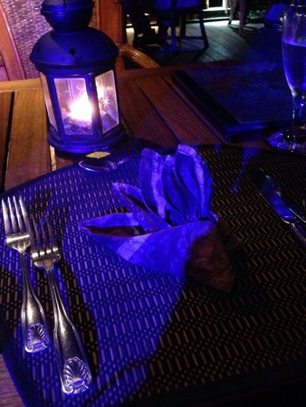 The Aquarium Restaurant : Table welcome