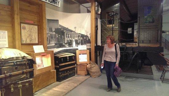 Yukon Transportation Museum : Inside, history from the Klondike