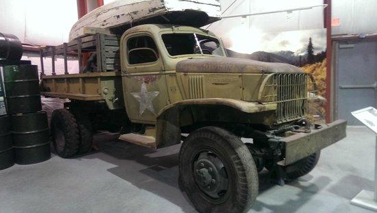Yukon Transportation Museum: Truck used during construction of Alaska Hwy