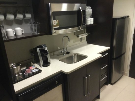 Home2 Suites by Hilton Philadelphia - Convention Center, PA: Nice kitchen with dishwasher, microwave, fridge, and stovetop upon request.