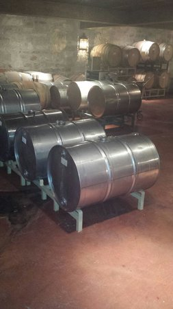 Spicewood Vineyards: Barrels on top of barrels