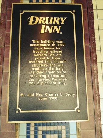 Drury Inn St. Louis at Union Station : Description of restoration