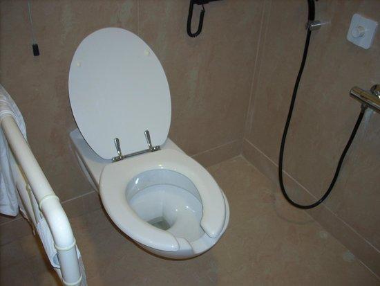 Grand Hotel Piazza Borsa: Chambre 123 WC Handi.