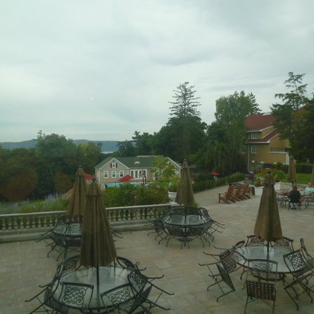 Tarrytown House Estate on the Hudson : View from Biddle House, where we ate breakfast