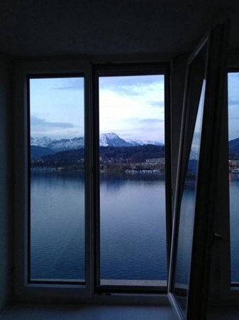 Palace Luzern: view from my room - evening