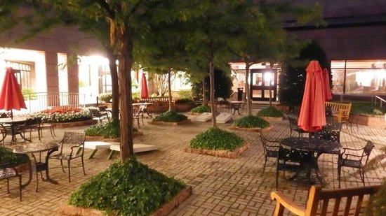 Hyatt Regency Dulles: aire de détente à l'extérieur du bar