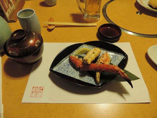 Kanidouraku Dotombori-Honten : Plato de cangrejo.