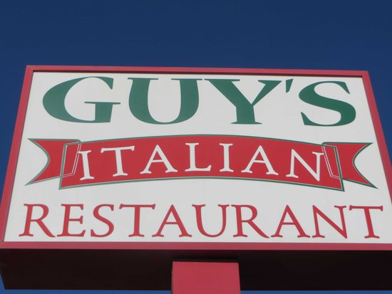 Guy's Italian Restaurant: closeup of sign