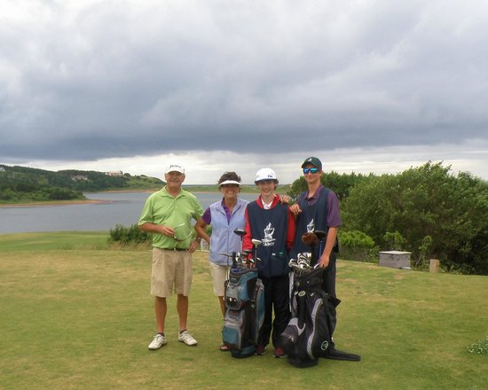Cabot Links Golf Course: Us with our caddies