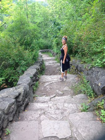 Whirlpool State Park: The stairway down